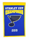 St. Louis Blues Banner 14x22 Wool Championship