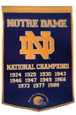 Notre Dame Fighting Irish Banner 24x36 Wool Dynasty (Navy)