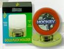 Hockey Puck Holder - Gold Base