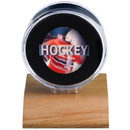 Hockey Puck Holder - Wood Base
