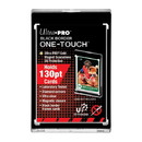 One Touch UV Card Holder With Magnet Closure Black Border - 130pt