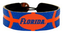 Florida Gators Florida Wordmark Logo Team Color Basketball Bracelet