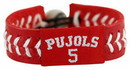 St. Louis Cardinals Albert Pujols Team Color Jersey Baseball Bracelet