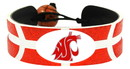 Washington State Cougars Team Color Basketball Bracelet
