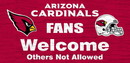 Arizona Cardinals Wood Sign - Fans Welcome 12