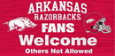 Arkansas Razorbacks Wood Sign - Fans Welcome 12