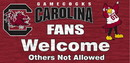 South Carolina Gamecocks Wood Sign - Fans Welcome 12