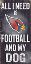 Arizona Cardinals Wood Sign - Football and Dog 6