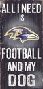 Baltimore Ravens Wood Sign - Football and Dog 6
