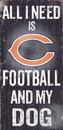 Chicago Bears Wood Sign - Football and Dog 6