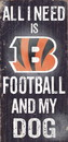 Cincinnati Bengals Wood Sign - Football and Dog 6