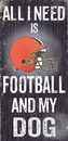 Cleveland Browns Wood Sign - Football and Dog 6