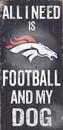 Denver Broncos Wood Sign - Football and Dog 6