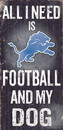 Detroit Lions Wood Sign - Football and Dog 6
