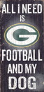Green Bay Packers Wood Sign - Football and Dog 6