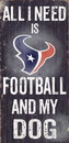 Houston Texans Wood Sign - Football and Dog 6