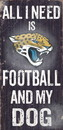 Jacksonville Jaguars Wood Sign - Football and Dog 6