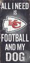 Kansas City Chiefs Wood Sign - Football and Dog 6