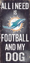 Miami Dolphins Wood Sign - Football and Dog 6