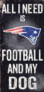 New England Patriots Wood Sign - Football and Dog 6