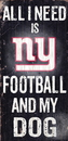 New York Giants Wood Sign - Football and Dog 6
