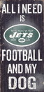 New York Jets Wood Sign - Football and Dog 6
