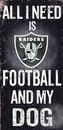 Oakland Raiders Wood Sign - Football and Dog 6