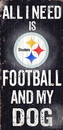 Pittsburgh Steelers Wood Sign - Football and Dog 6