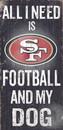 San Francisco 49ers Wood Sign - Football and Dog 6