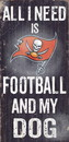 Tampa Bay Buccaneers Wood Sign - Football and Dog 6