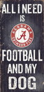 Alabama Crimson Tide Wood Sign - Football and Dog 6