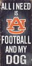 Auburn Tigers Wood Sign - Football and Dog 6