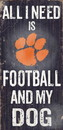 Clemson Tigers Wood Sign - Football and Dog 6