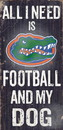 Florida Gators Wood Sign - Football and Dog 6