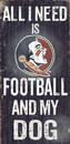 Florida State Seminoles Wood Sign - Football and Dog 6