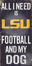 LSU Tigers Wood Sign - Football and Dog 6
