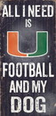 Miami Hurricanes Wood Sign - Football and Dog 6