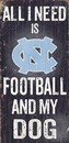 North Carolina Tar Heels Wood Sign - Football and Dog 6