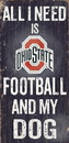 Ohio State Buckeyes Wood Sign - Football and Dog 6