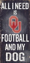 Oklahoma Sooners Wood Sign - Football and Dog 6