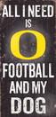 Oregon Ducks Wood Sign - Football and Dog 6