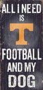 Tennessee Volunteers Wood Sign - Football and Dog 6