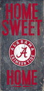 Alabama Crimson Tide Wood Sign - Home Sweet Home 6