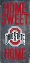 Ohio State Buckeyes Wood Sign - Home Sweet Home 6