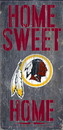 Washington Redskins Wood Sign - Home Sweet Home 6