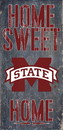 Mississippi State Bulldogs Wood Sign - Home Sweet Home 6x12