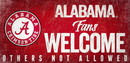 Alabama Crimson Tide Wood Sign Fans Welcome 12x6