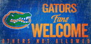 Florida Gators Wood Sign Fans Welcome 12x6