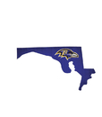 Baltimore Ravens Sign Wood Logo State Design