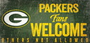 Green Bay Packers Wood Sign Fans Welcome 12x6